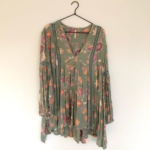 Free People floral, flowy tunic